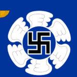 Lentosotakoulun (entisen Ilmasotakoulun) lipusta löytyy yhä hakaristi.