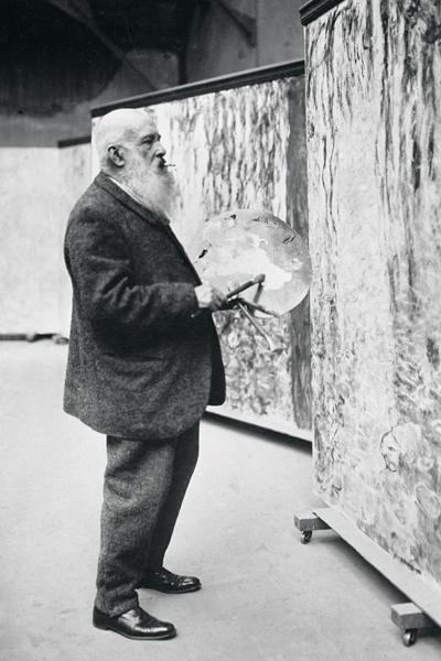 Claude Monet 80-vuotispäivänään 1920.