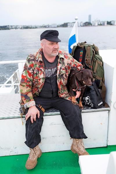 Marko Leppänen ja Rodos-koira