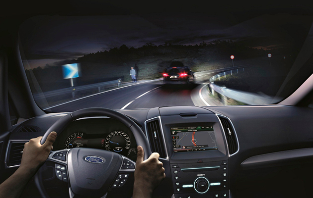 Auton valaistuksen turvajärjestelmä