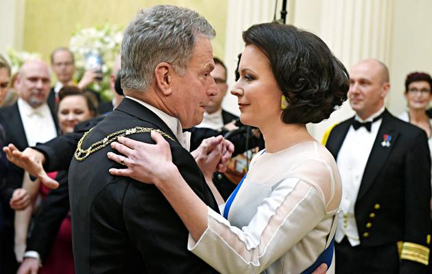 Presidentti Sauli Niinistö ja rouva Jenni Haukio