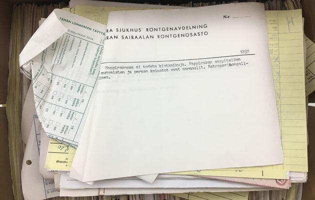Eiran sairaalan potilasasiakirjoja löytyi asuintalon kellarista.