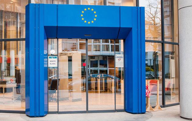 Europan Unionin pääsisäänkäynti Brysselissä.