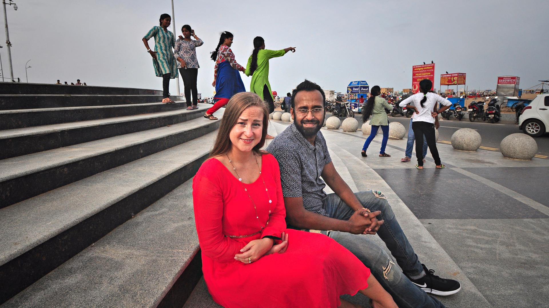 Maaria Ajanko ja Santhosh Jacob