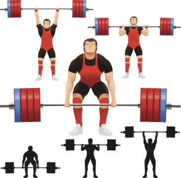 Toinen painonnoston liikkeistä on rinnalle käännön ja ylöstyönnön yhdistelmä.