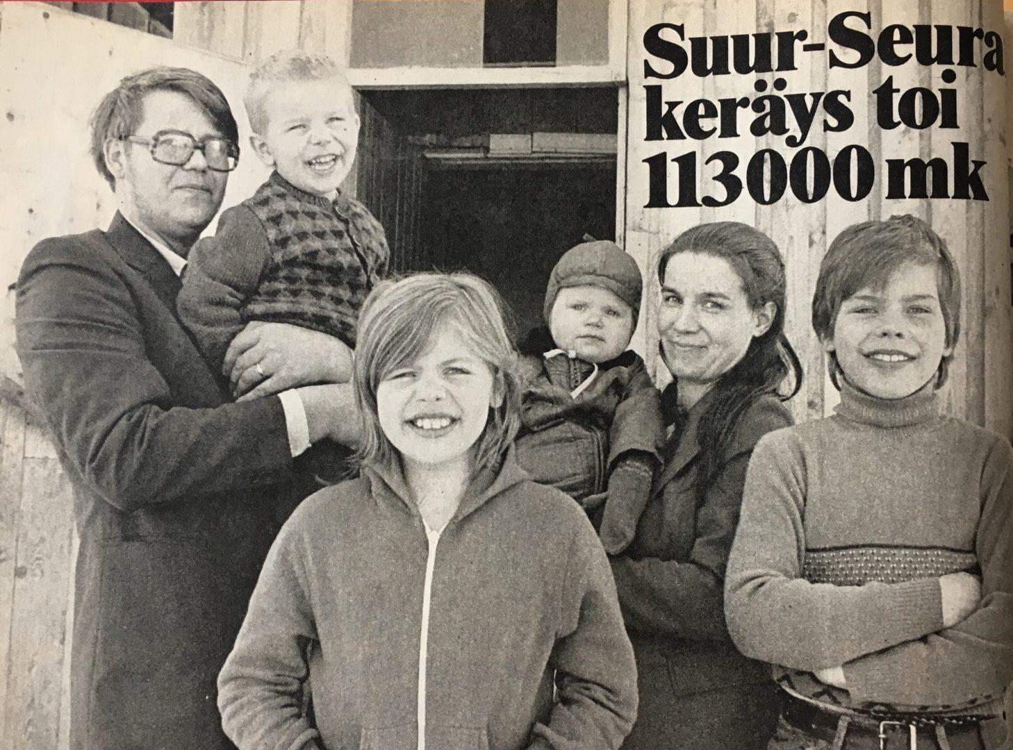 Suur-Seura keräsi suuren rahasumman paltamolaiselle perheelle vuonna 1979.