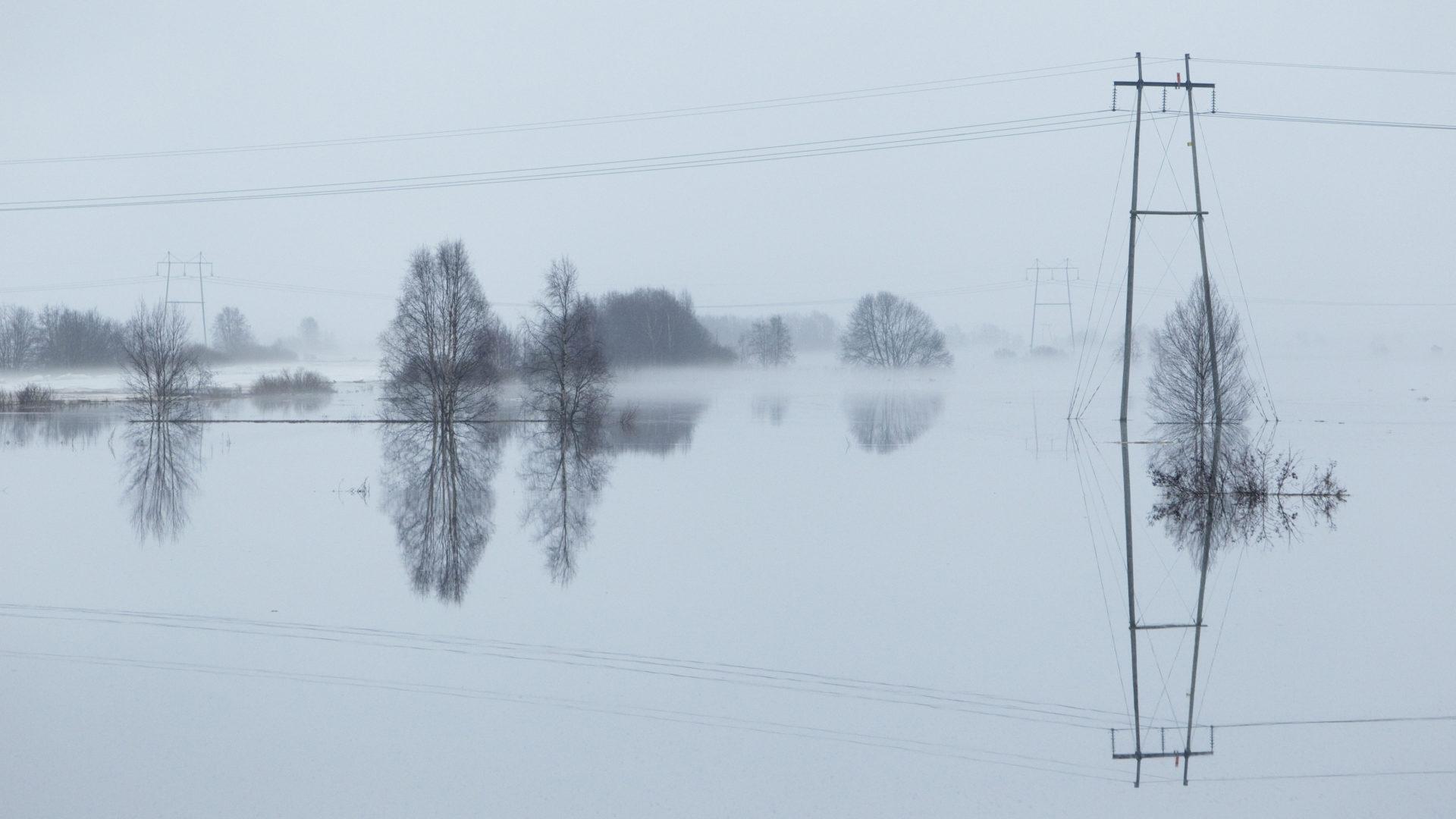 Tulvat ovat yleisiä runsaslumisten talvien jälkeen.