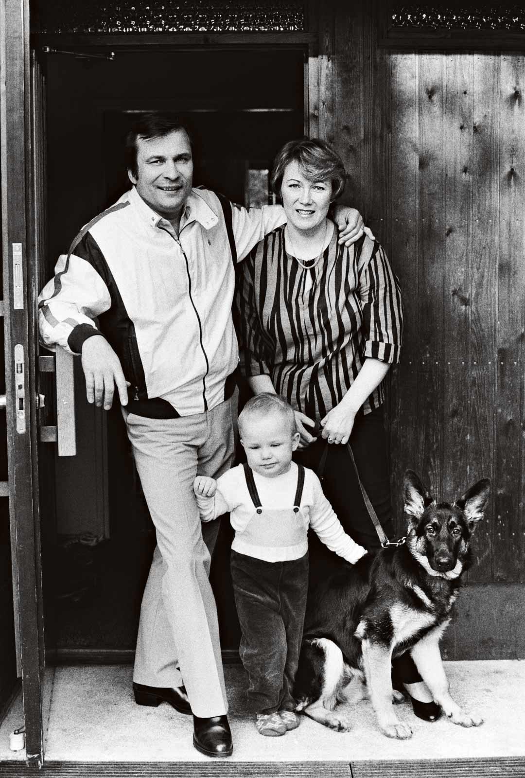 Reijo ja Roni-poika keväällä 1984