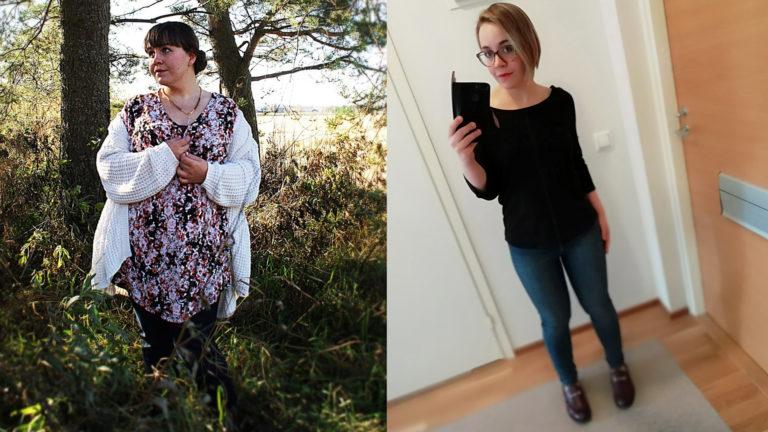 Jenna Piirto on laihduttanut 38 kiloa, mutta hänen mielensä ei ole aina pysynyt muutoksessa mukana.