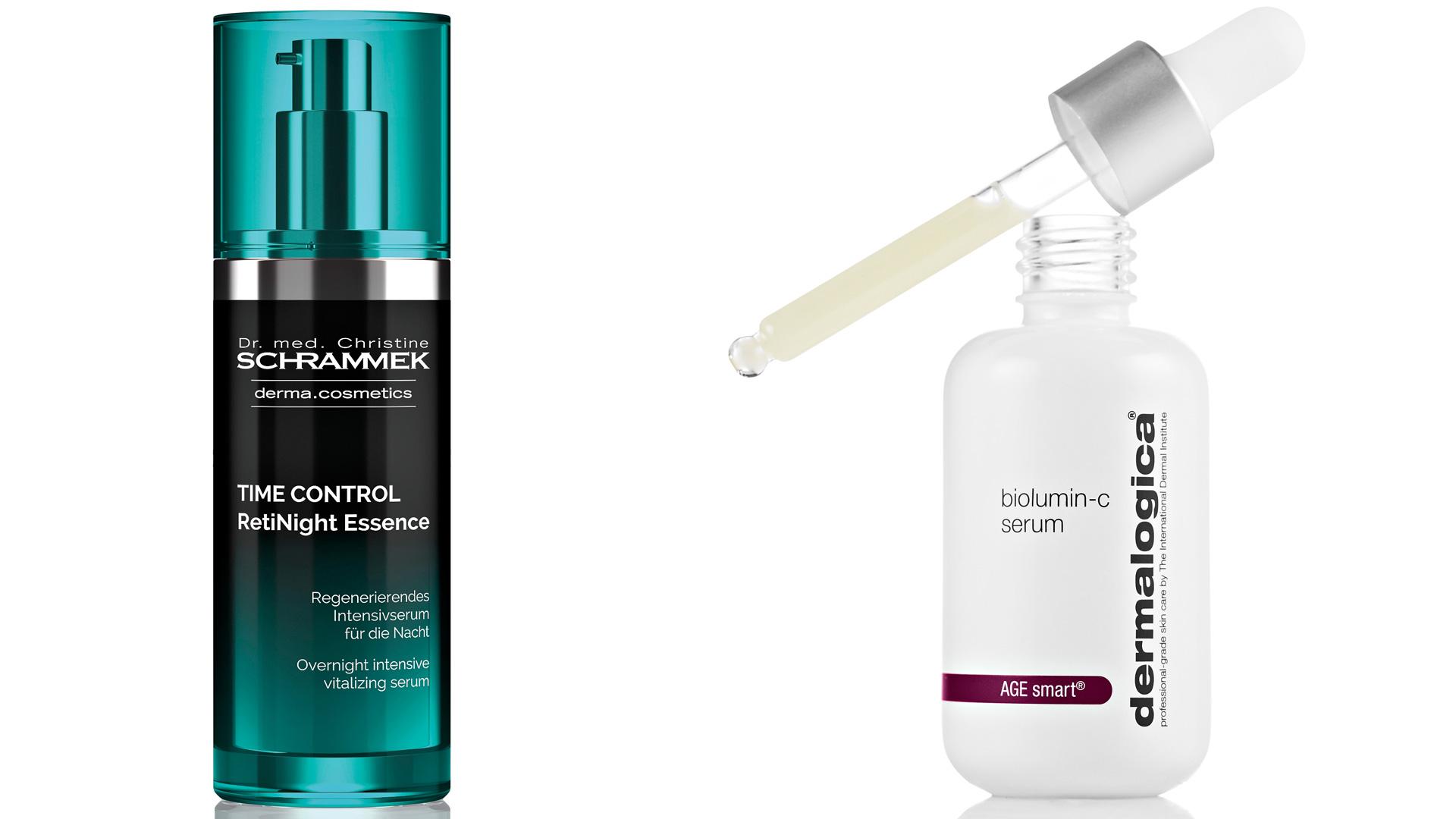 Dr Schrammek Time Control RetiNight Essence ja Dermalogica biolumin-c serum