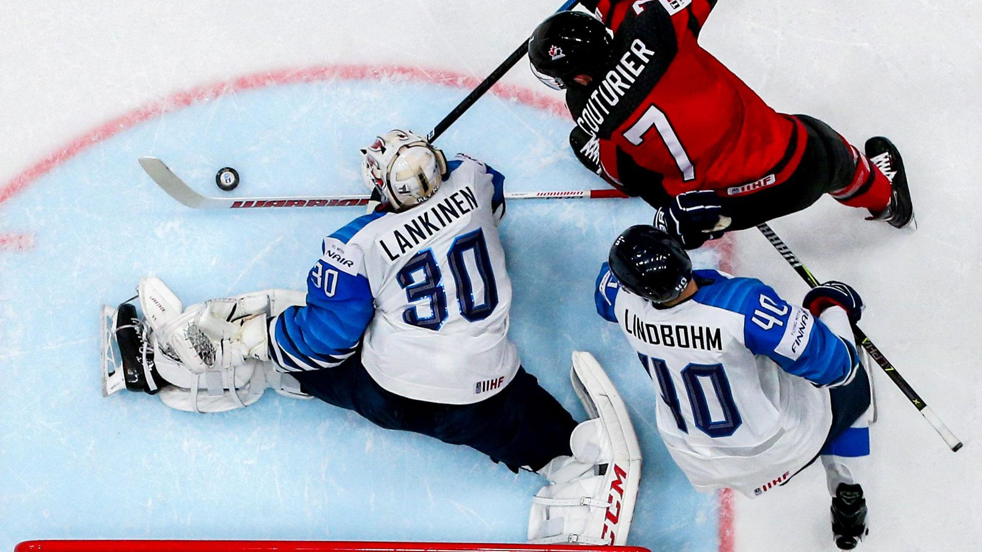 Leijonien maalivahti Kevin Lankinen torjui Suomelle MM-kultaa Bratislavasta.