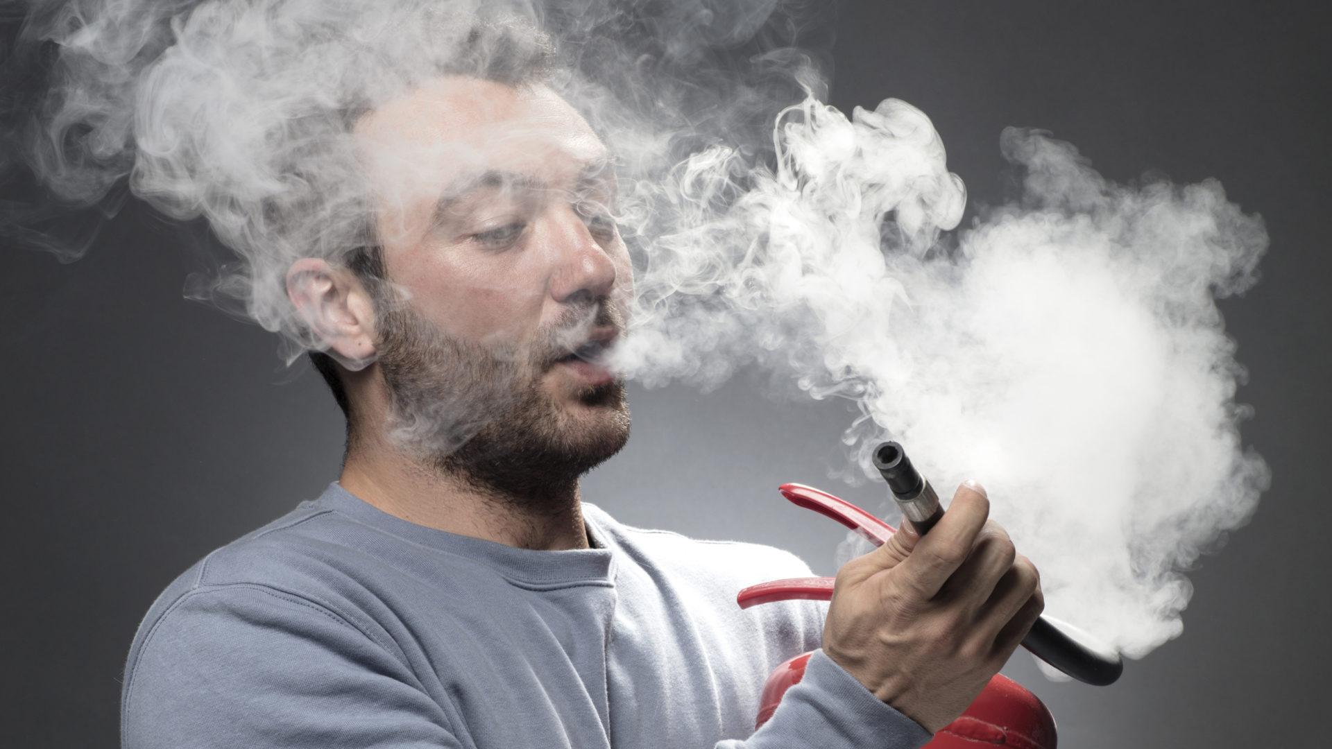 Sammutusaineen hengittäminen voi olla haitallista.