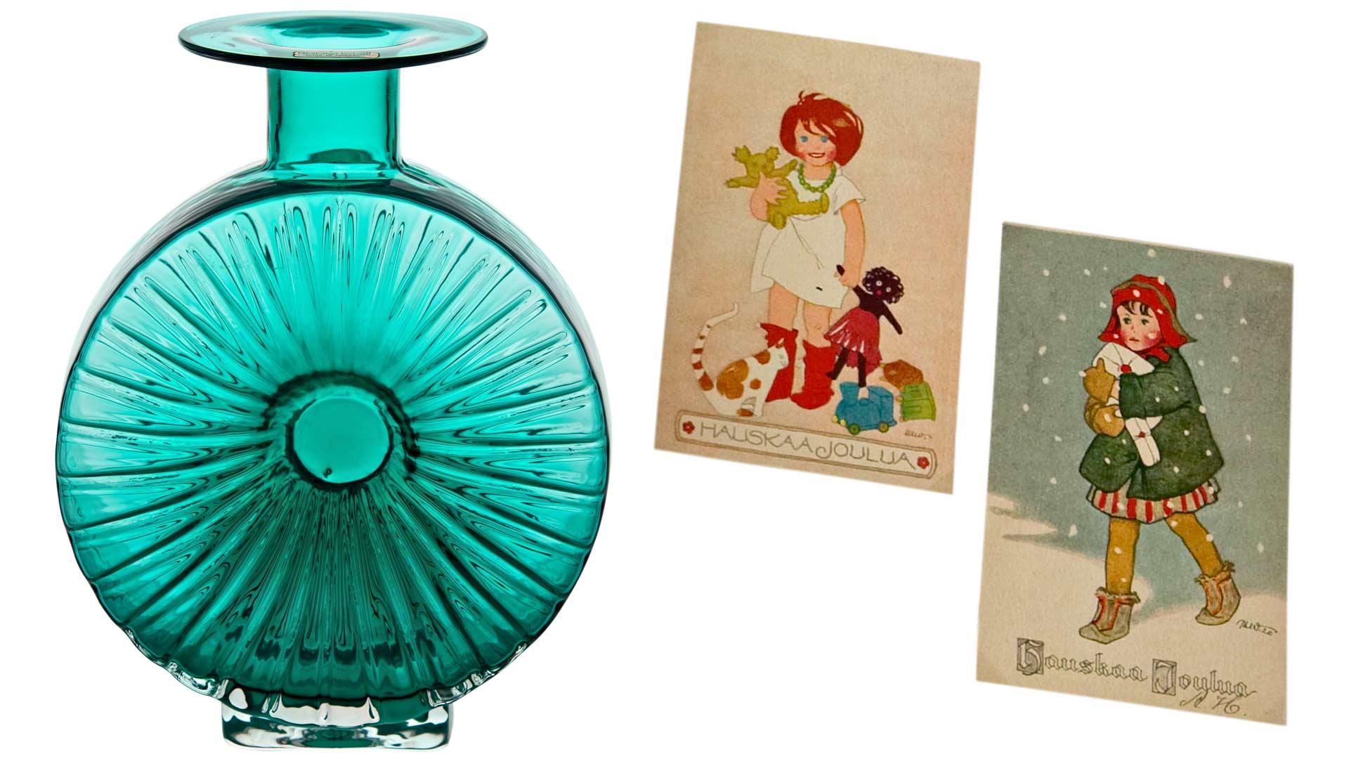 Aurinkopullo ja Martta Wendellin postikortteja