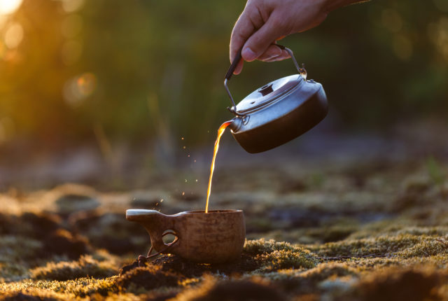 Kuksa sopii erinomaisesti kahvinjuontiin.