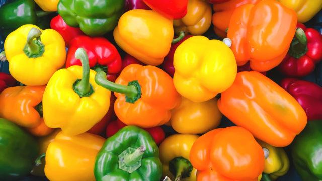 Paprikoita on monen värisiä ja makuisia.