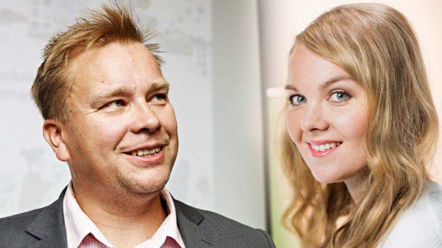 Antti Kaikkonen ja Katri Kulmuni