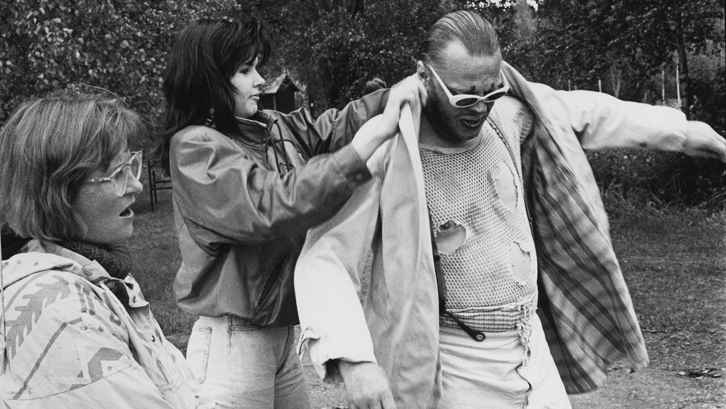 Uuno Turhapuro -elokuvan kuvaukset vuonna 1990.