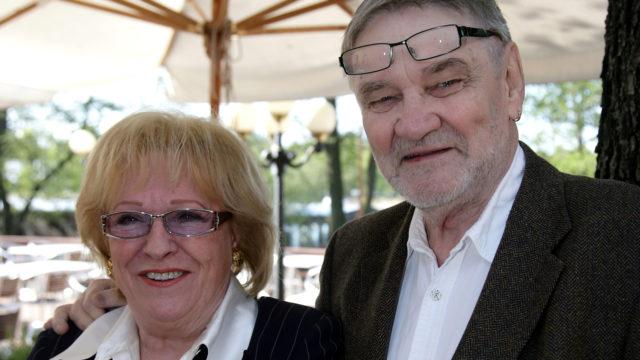 Pitkäaikaiset työtoverit Marjatta Leppänen ja Jukka Virtanen vuonna 2008.