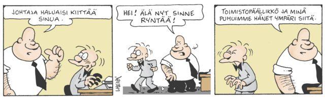 Ilkka Heilän piirtämä B. Virtanen -strippi
