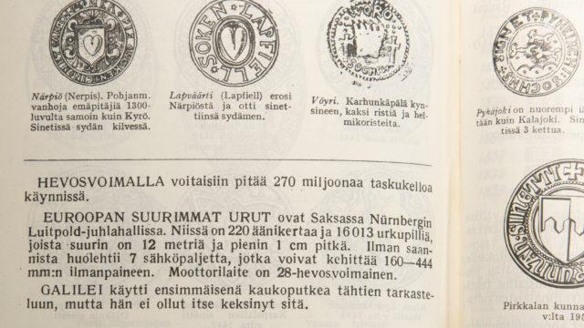 Sisäsivuja vuoden 1964 Pikku Jättiläisestä.