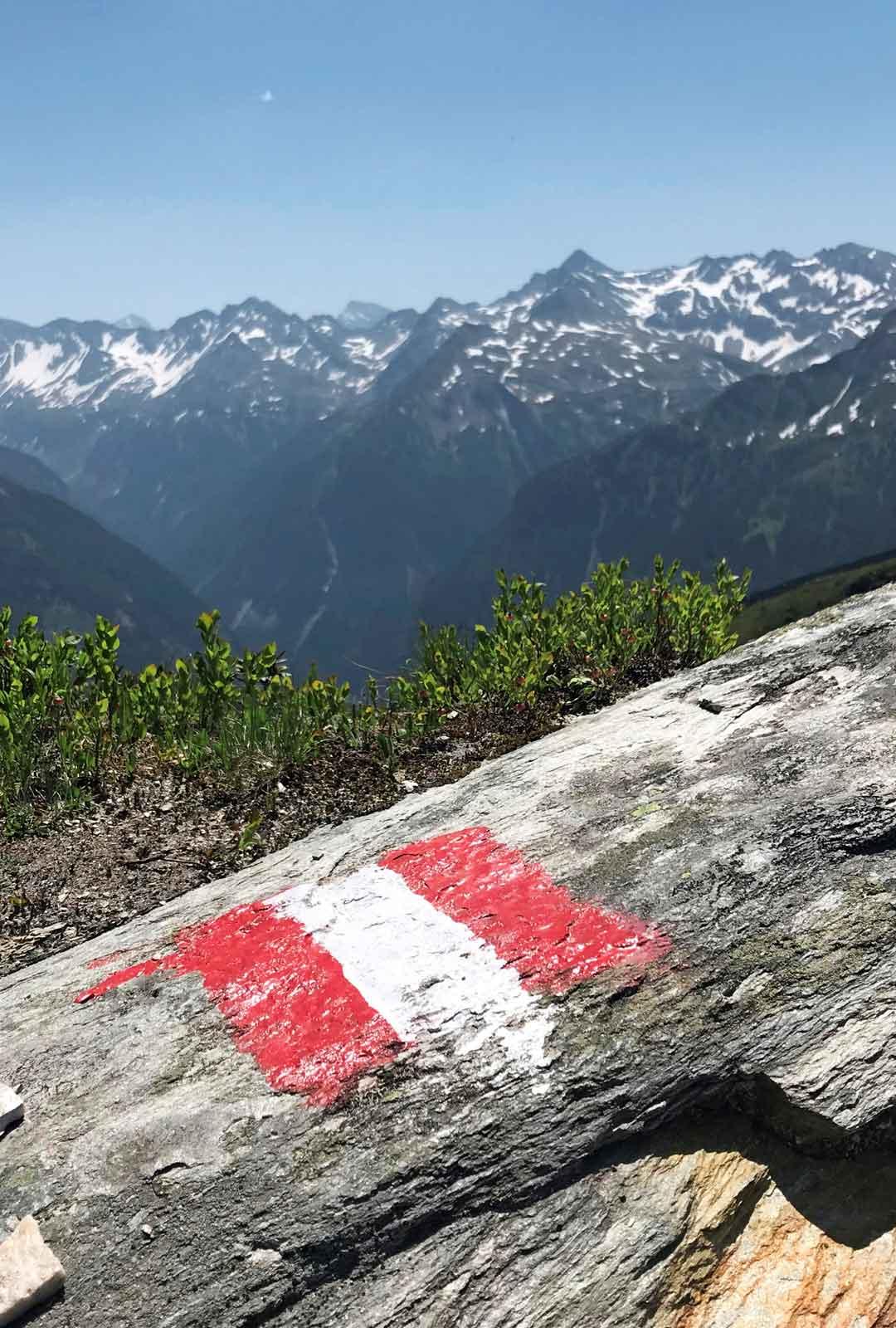 Kesäistä alppimaisemaa Itävallassa.