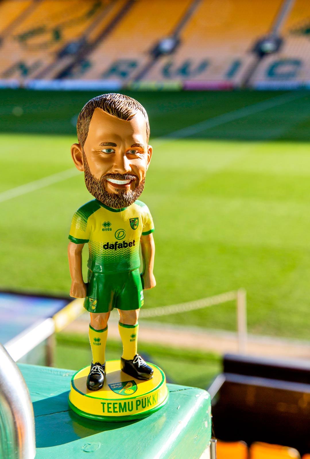 Norwich City suunnittelee uusia Pukki-tuotteita jalkapallon EM-kisojen yhteyteen.