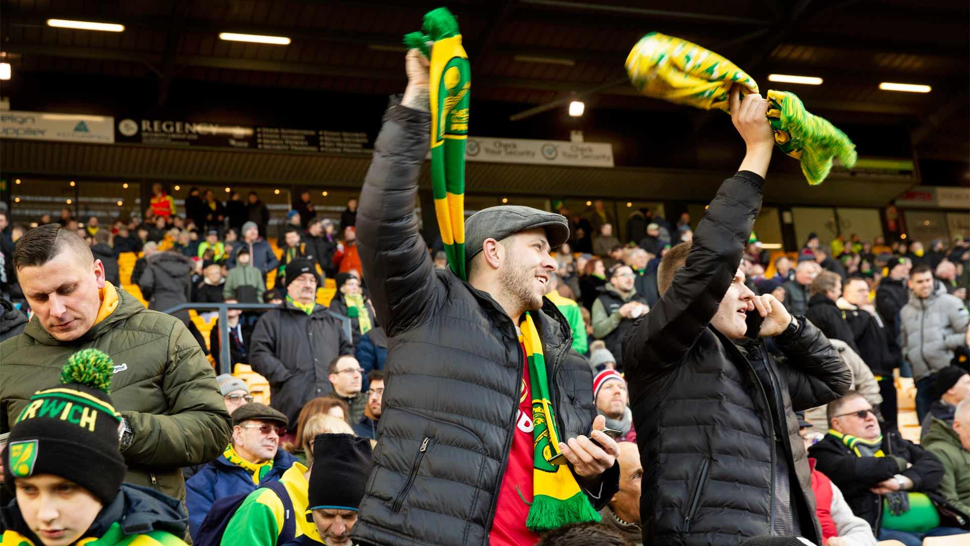 Norwich Cityn kotiottelut ovat joka ilta lähes loppuunmyytyjä.