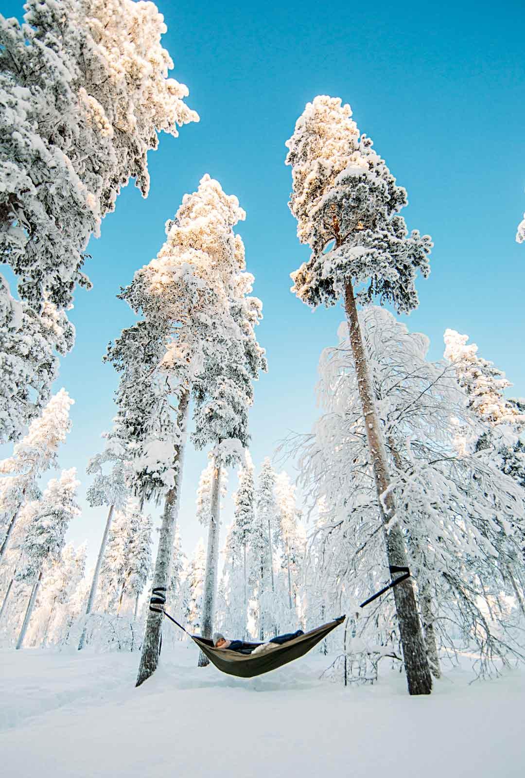 Entä jos menisi Levillä metsään vai olemaan ja lepäämään, ei suorittamaan? Se onnistuu vaikkapa riippumattorentoutuksen avulla.