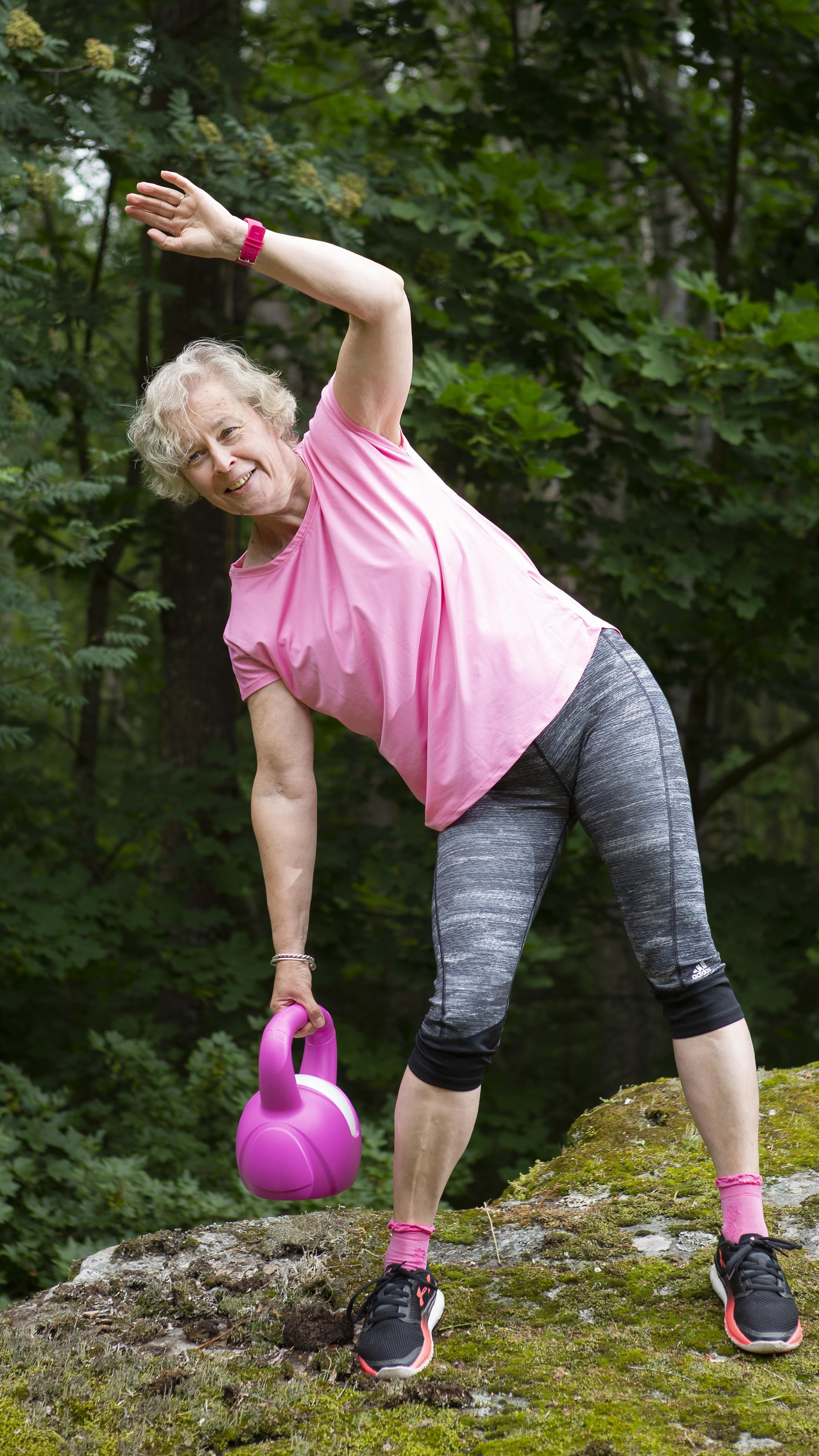 Marjut Arhilahti pudotti painoaan huomattavasti aloitettuaan liikunnan ja elämäntaparemontin.