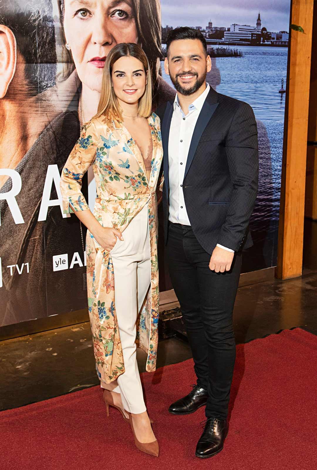 Serranon perheestä tututFran Perea ja María Romero.
