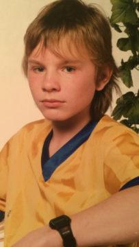 12-vuotias Dome Karukoski vuonna 1987.