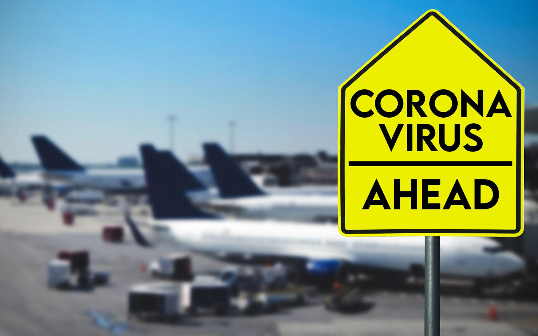 Koronavirus rajoittaa merkittävästi lentoliikennettä.
