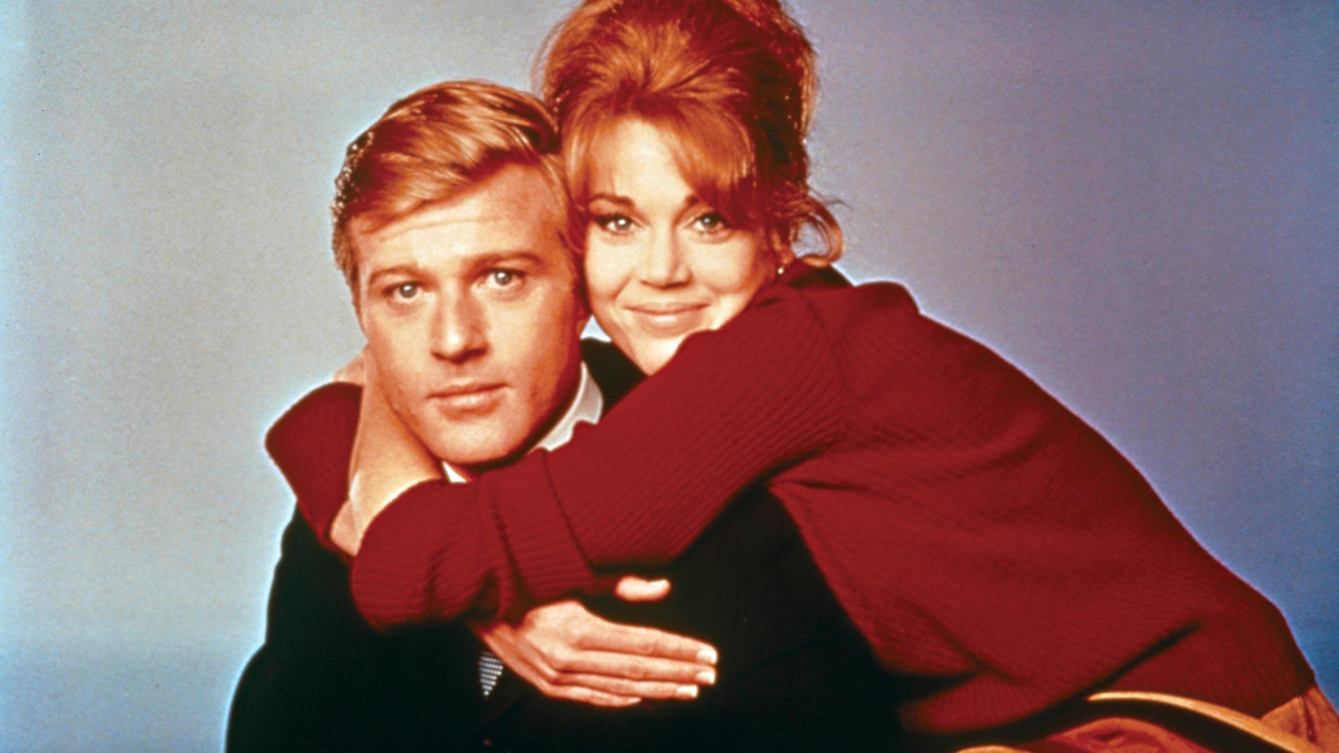 Robert Redford ja Jane Fonda silloin kun he olivat nuoria, elokuvassaPaljain jaloin puistossa.