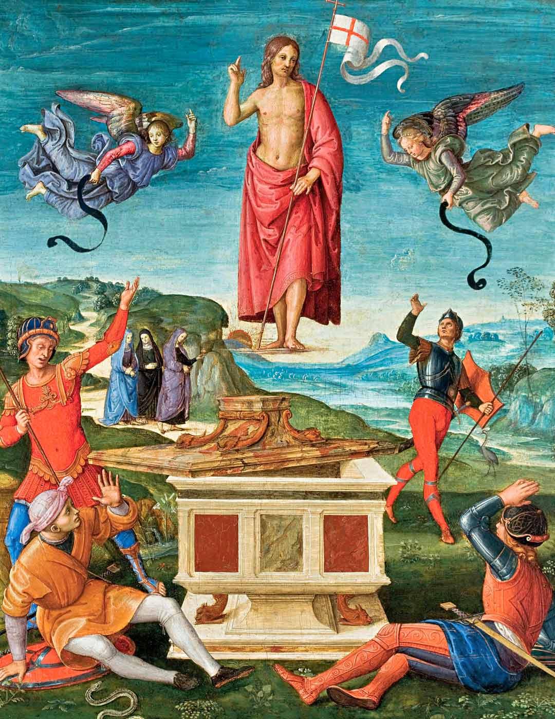 Renessanssimestarin Rafaelin teos Resurrection of Christ löytyy São Paulon taidemuseosta.