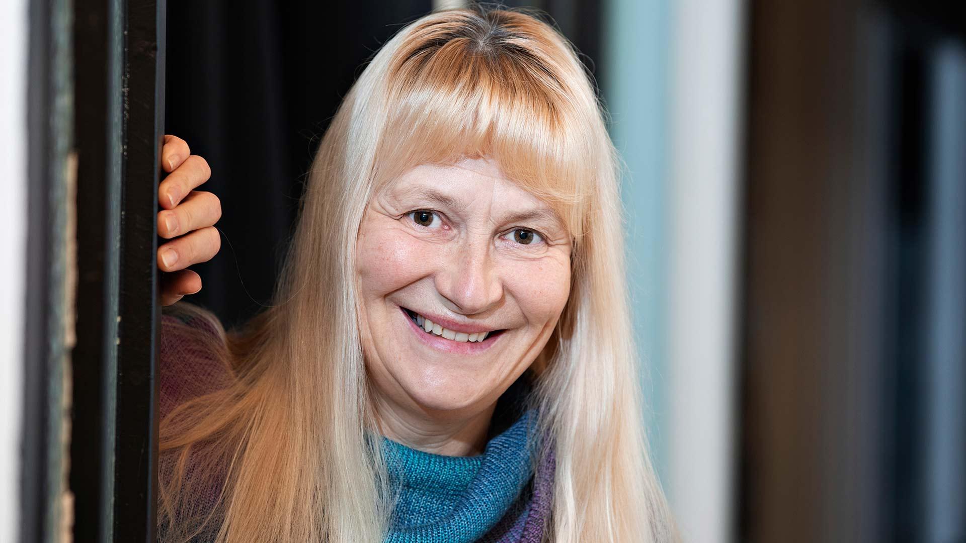 Mikon ystävä Teija Söderholm.
