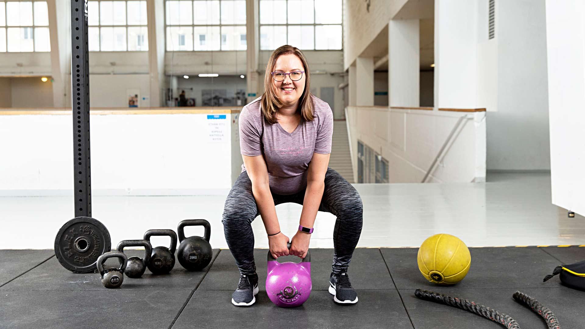 Riitta Happoselle laihduttamista tärkeämpää on kunnon kohottaminen ja kehon kiinteyttäminen.