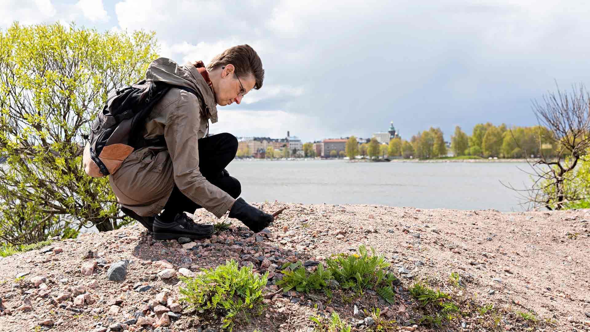 Maarit Verronen tutkii lähiympäristöään ja liikkuu paljon luonnossa kävellen. Niin hän on vapaa monista rajoituksista.