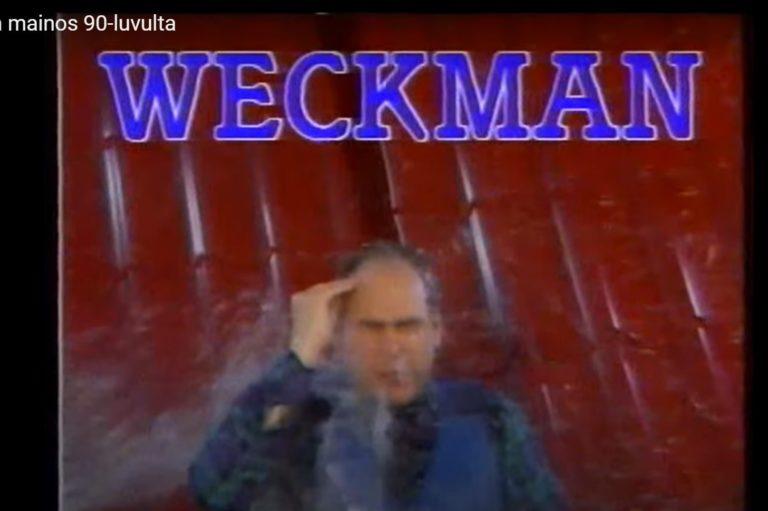 Vesa Walldén esiintyi Weckmanin tv-mainoksessa vuonna 1990. Mainosta esitettiin aikoinaan miljoonayleisöille.