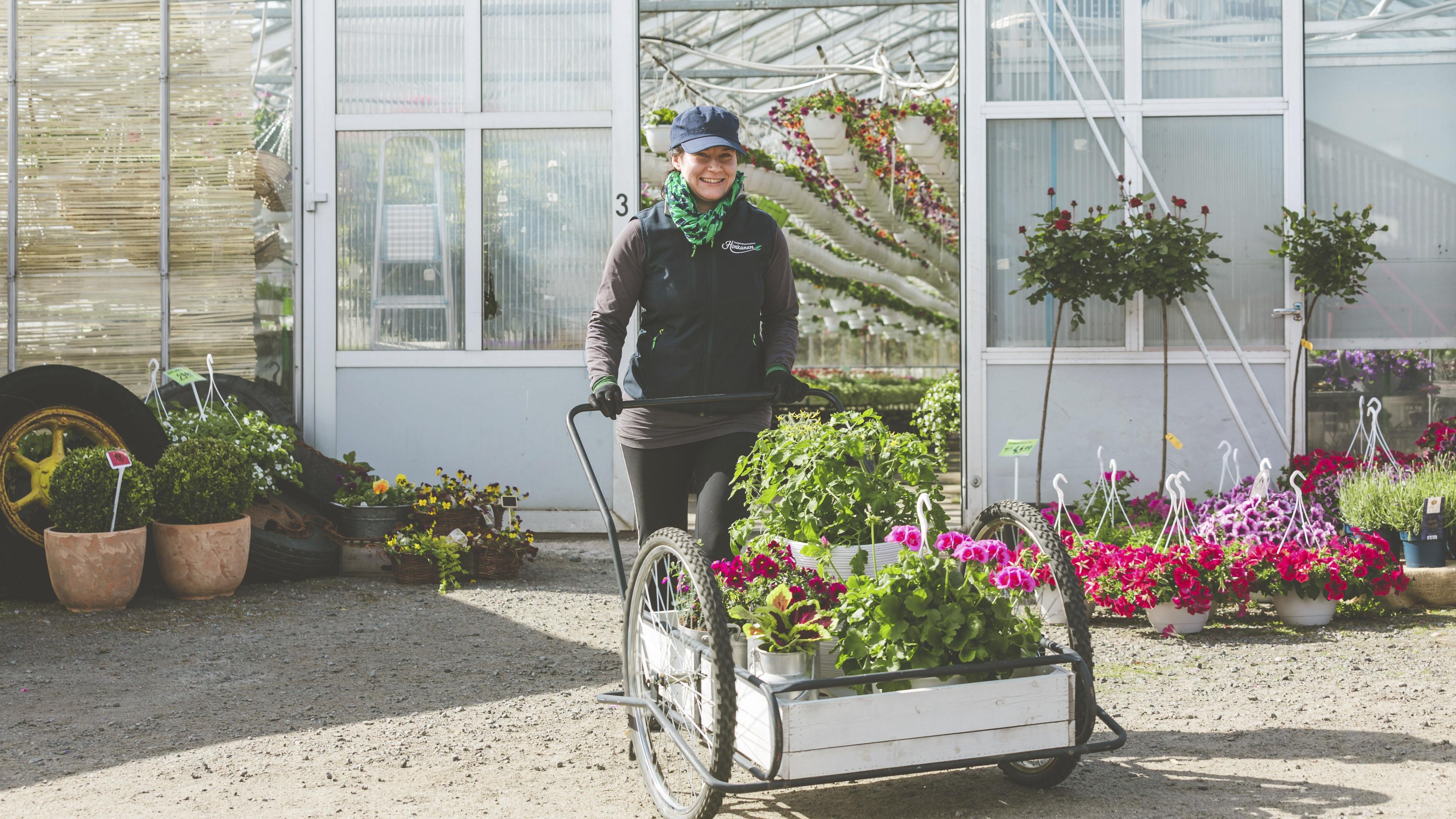 Hoppula on ollut Kauppapuutarha Honkasen yrittäjä runsaan kymmenen vuoden ajan.