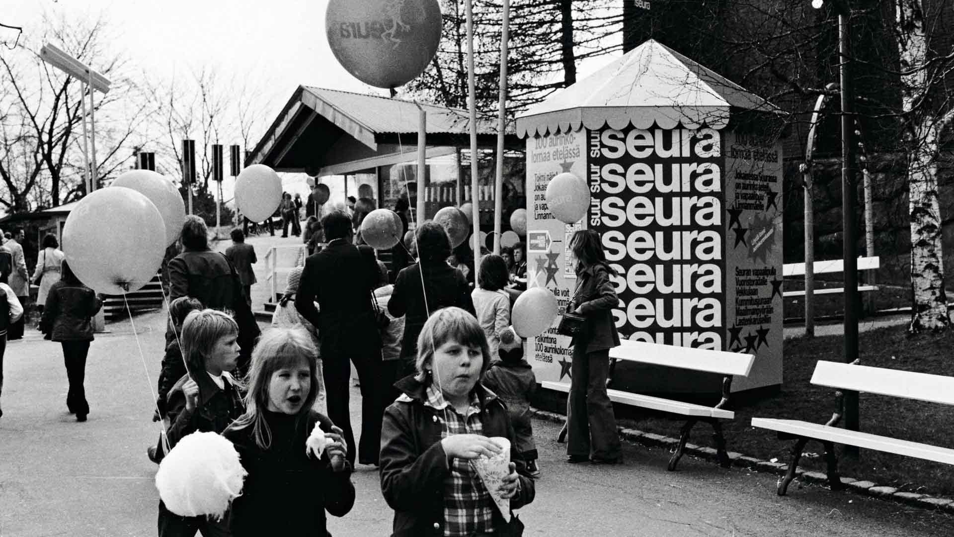 Kehrätty sokeripallo sai hattara-nimen kilpailun tuloksena. Herkku muistutti pilvenhattaraa.
