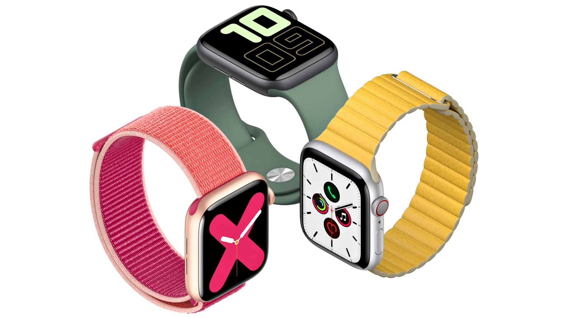Apple Watch Series 5 maksaa 450–850 e.