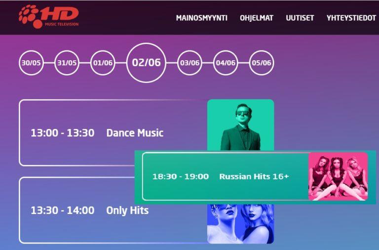 Musiikkikanava on ollut Suomessa antennipaikalla 17.