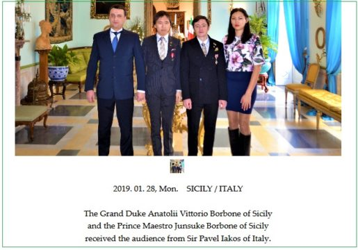 Venäläistä kanavajohtajaa tituleerataan prinssin sivuilla kauniisti Italian edustajana.