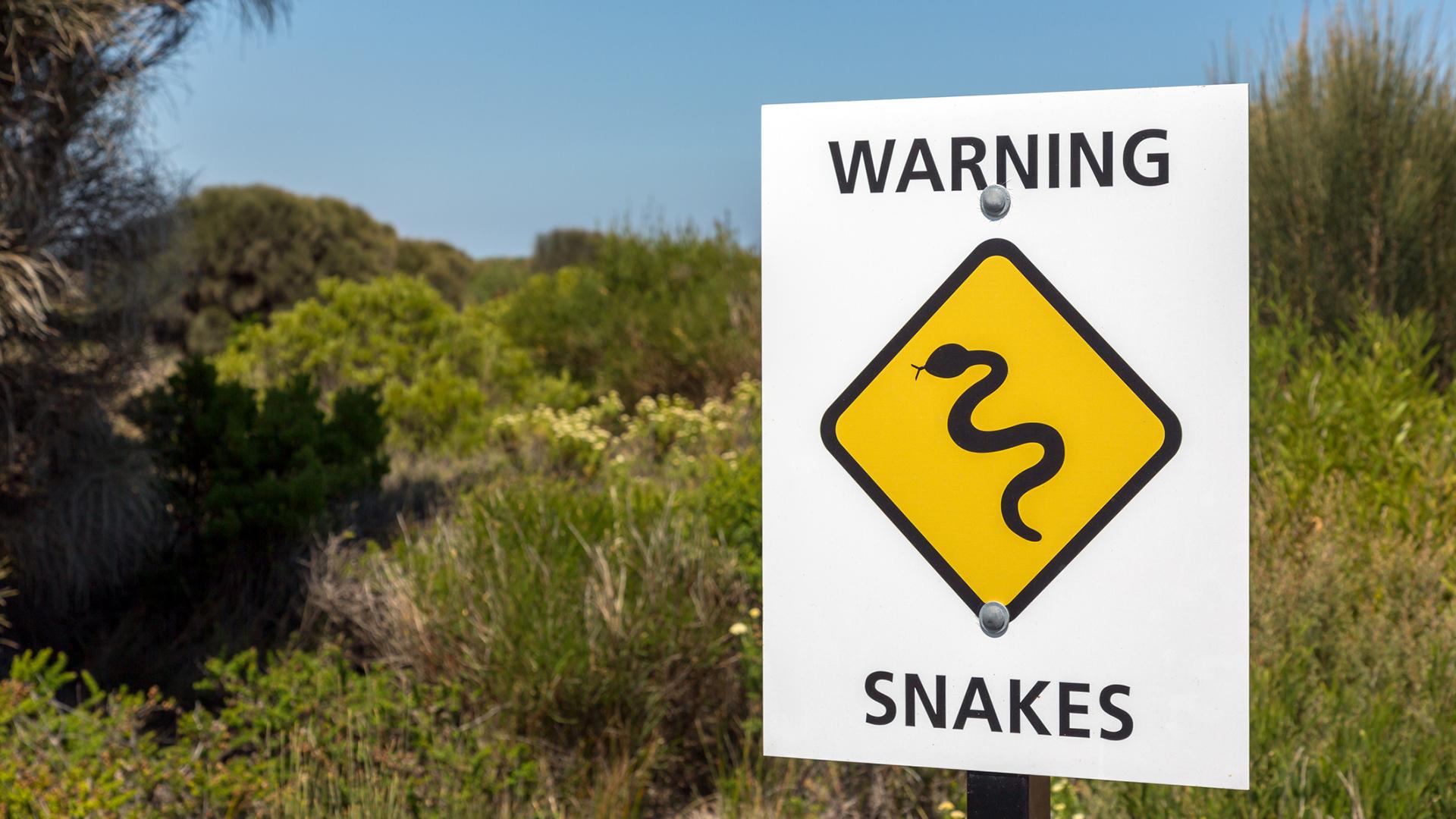 Australialainen varoituskyltti kääremistä