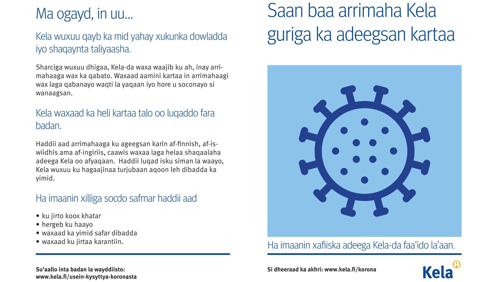 Helposti ymmärrettävä teksti taipuu kätevämmin myös muille Kelan asiointikielille.