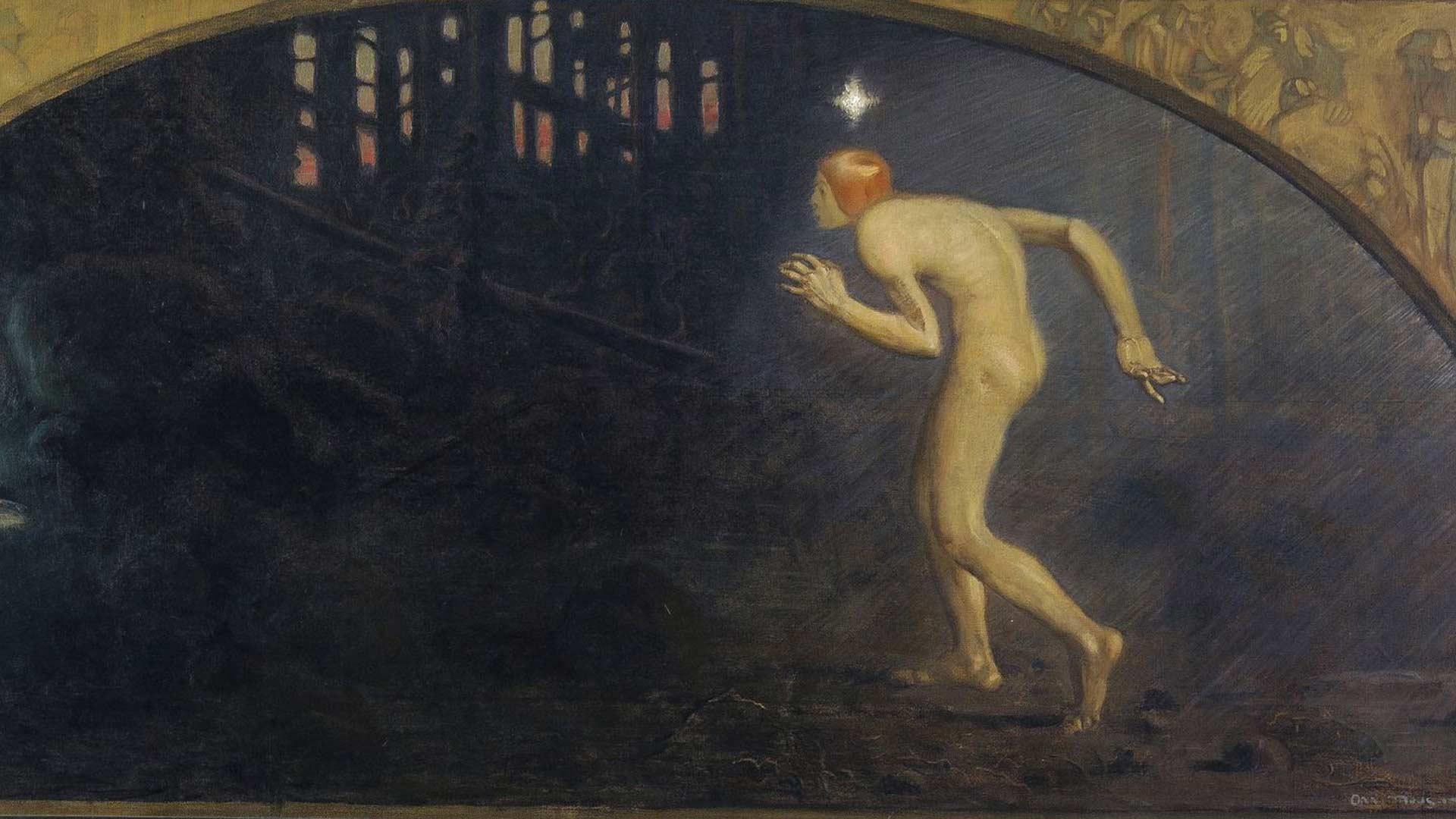 Onni Muusarin maalaus Aarteenetsijä on vuodelta 1910. Teoksessa nuori mies lähestyy varoen metsässä hohtavaa valoa. Hän edustaa aikakautensa totuudenetsijää, joka lopulta löytää valon.