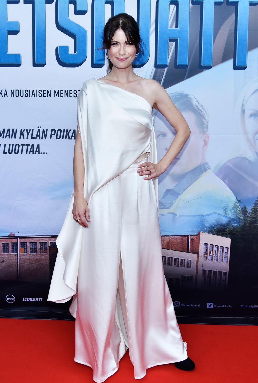 Näyttelijä Sara Soulié oli kesällä perheensä kanssa Tanskassa.