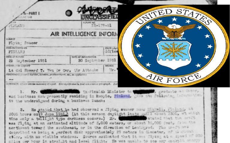 Suomalaisten ufohavainnoista kiinnostui Yhdysvaltojen ilmavoimat