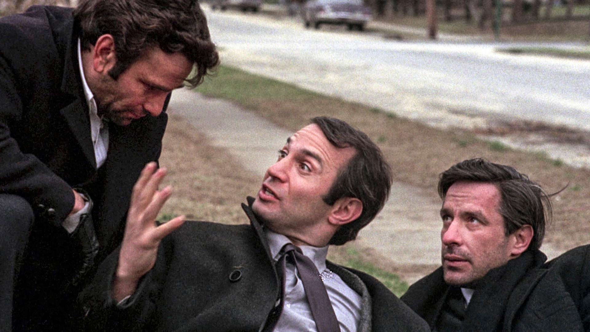 Archie (Peter Falk), Harry (Ben Gazzara) ja Gus (John Cassavetes) elokuvassa Aviomiehet.