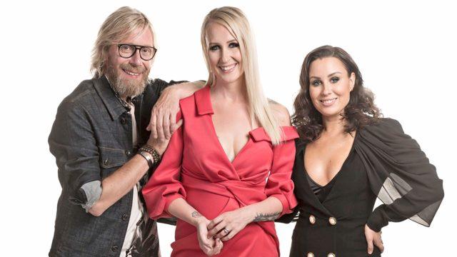 Big Brother -tosi-tv:n juontajat Kimmo Vehviläinen, Elina Kottonen jaAlma Hätönen.